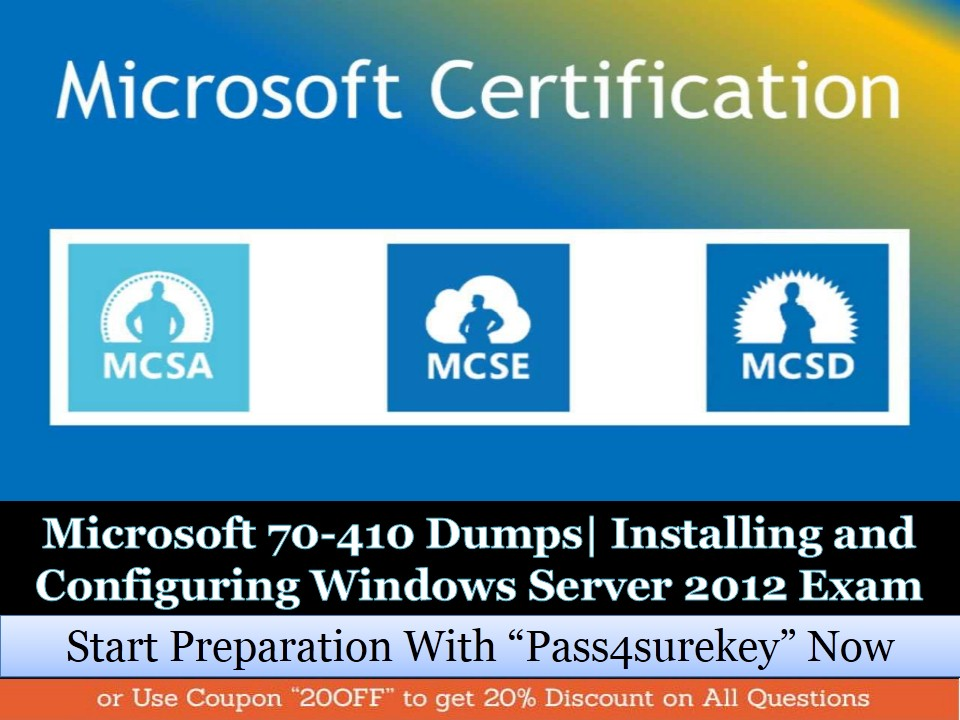 Microsoft 70 410 Dumps 70 410 Study Guide To Pass Installing And